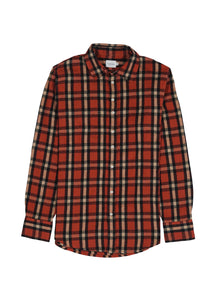 Red Beige Navy Check