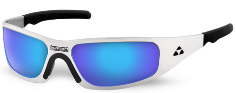 Gasket - white frame - blue mirror polarized - LIQGKWHBL2JP
