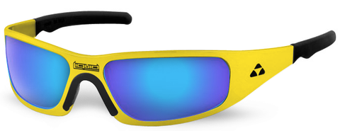 Gasket - yellow frame - blue mirror polarized - LIQGKYEBL2JP