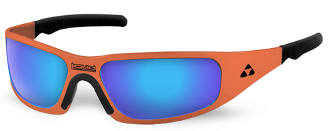 Gasket - orange frame - blue mirror polarized - LIQGKORBL2JP