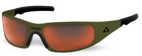 Gasket - olive drab green frame - red mirror polarized - LIQGKODRD2JP