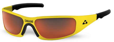 Gasket - yellow frame - red mirror polarized - LIQGKYERD2JP