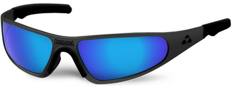 Player - matte black frame - blue mirror polarized - LIQPLMBBL2JP