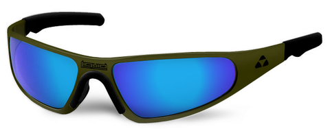 Player - olive drab green frame - blue mirror polarized - LIQPLODBL2JP