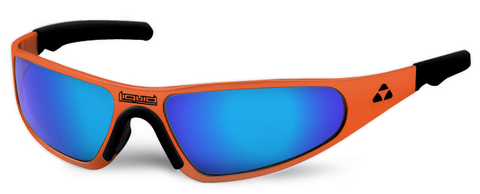 Player - orange frame - blue mirror polarized - LIQPLORBL2JP