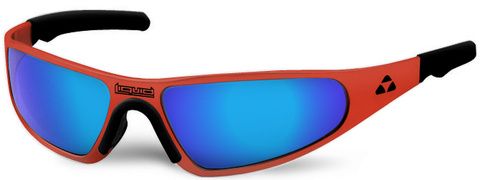 Player - red frame - blue mirror polarized - LIQPLRDBL2JP