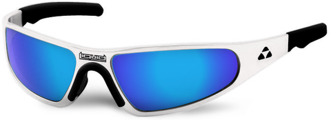 Player - white frame - blue mirror polarized - LIQPLWHBL2JP