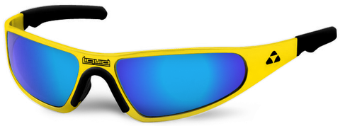 Player - yellow frame - blue mirror polarized - LIQPLYEBL2JP