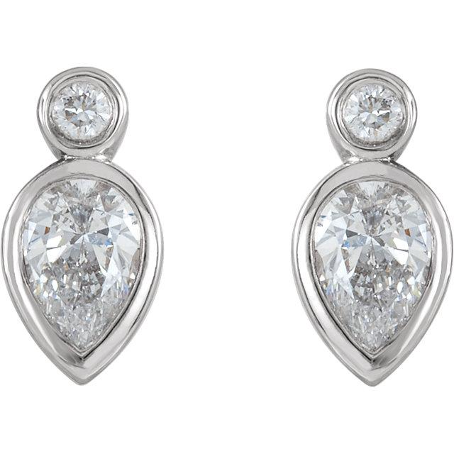 1/3 CTW Diamond Bezel-Set Earrings