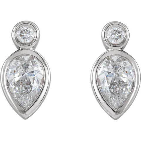 1/3 CTW Diamond Bezel-Set Earrings - Moijey Fine Jewelry and Diamonds