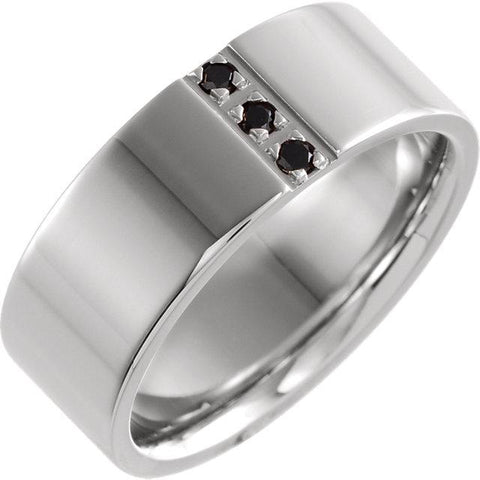 Polished Black Diamond Band - Moijey Fine Jewelry and Diamonds