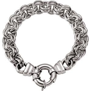 "Sterling Silver Solid Double Cable 8"" Bracelet - Moijey Fine Jewelry and Diamonds"