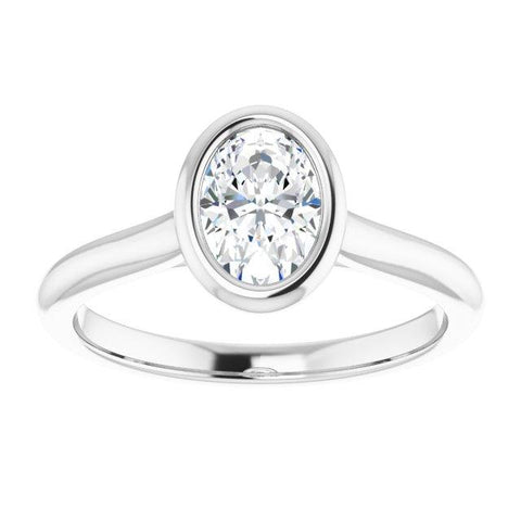 Solitaire Bezel-Set Engagement Ring - Moijey Fine Jewelry and Diamonds