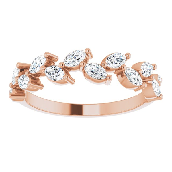 14mk Rose Gold 5/8 CTW Anniversary Band - Moijey Fine Jewelry and Diamonds