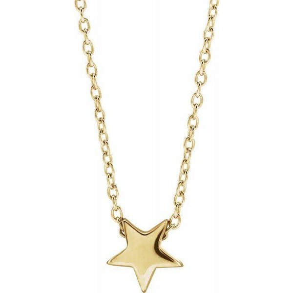 "14k Star 16-18"" Necklace"
