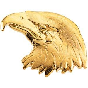 14k Yellow Gold Crying Eagle Lapel Pin