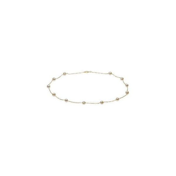 "14K Yellow Pearl Station 18"" Necklace"