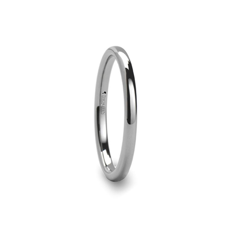 2mm Domed Tungsten Carbide Ring