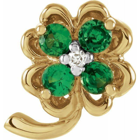 Genuine Tsavorite and Diamond Clover Pendant - Moijey Fine Jewelry and Diamonds