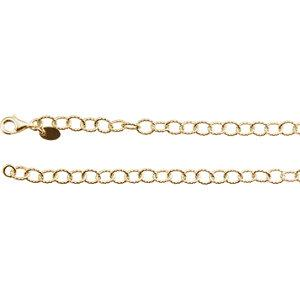 "24K Yellow Vermeil 4.45mm Knurled Cable 24"" Chain - Moijey Fine Jewelry and Diamonds"