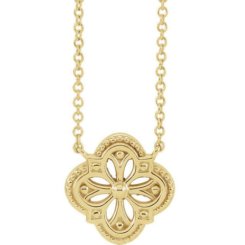 "Vintage-Inspired Clover 16"" Necklace - Moijey Fine Jewelry and Diamonds"