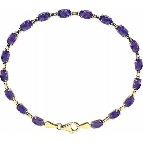 Amethyst Line Bracelet - Moijey Fine Jewelry and Diamonds