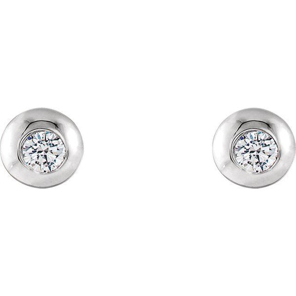 Domed Stud Earrings - Moijey Fine Jewelry and Diamonds