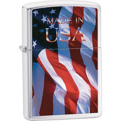 Zippo® Made in USA Brushed Chrome Lighter