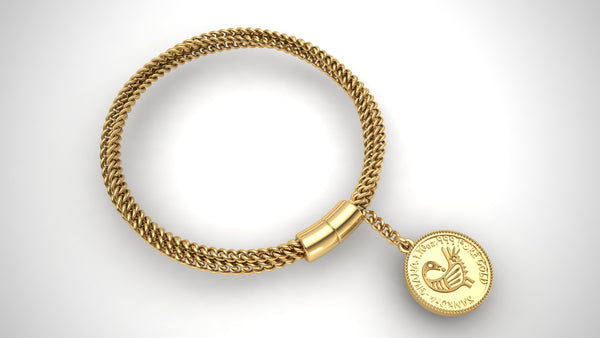 Sankofi and Fawohodie Medallion Bracelet - Moijey Fine Jewelry and Diamonds