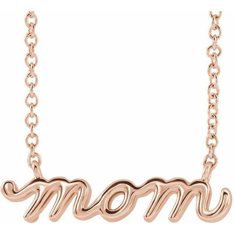 14k Rose Gold Mom Necklace - Moijey Fine Jewelry and Diamonds