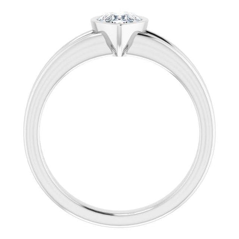 Platinum 7x5 mm Pear Ring Mounting - Moijey Fine Jewelry and Diamonds
