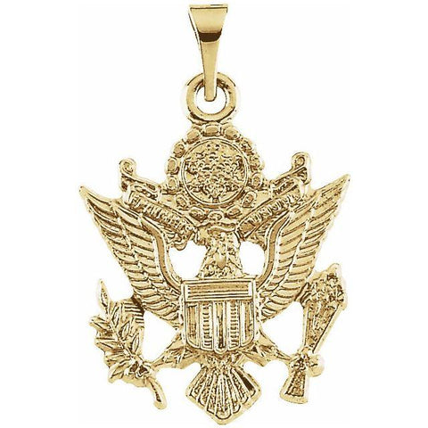 14k Yellow Gold US Army Pendant