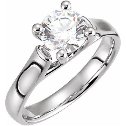 14K.White 1/4Ctw.Round Diamond Solitare ring - Moijey Fine Jewelry and Diamonds