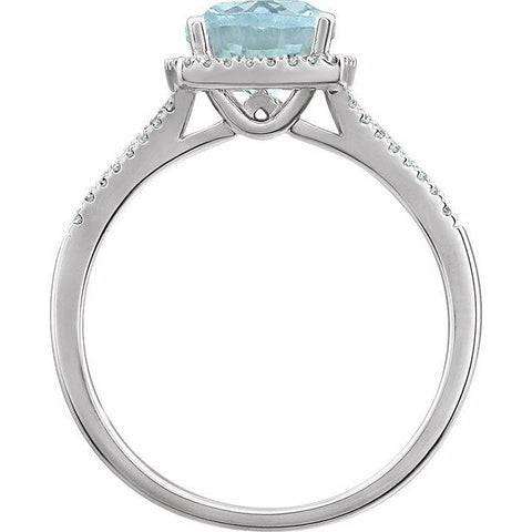 Aquamarine & Diamond Dinner Ring - Moijey Fine Jewelry and Diamonds