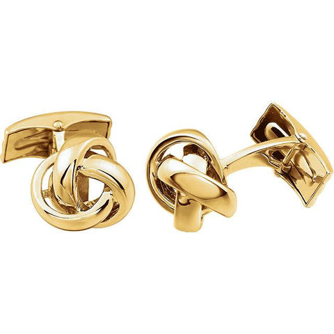 Gold Knot Cuff-Links | White Knot Men's Cuff-Links | Cuff-Links