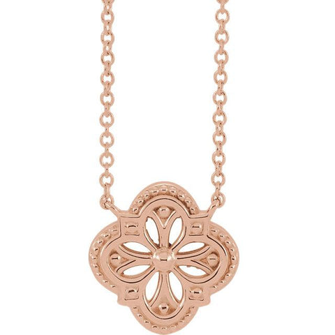 vintage clover necklace | vintage inspired necklaces | vintage inspired clover necklaces