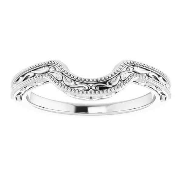 14k White Band for 6.5 mm Round Ring - Moijey Fine Jewelry and Diamonds