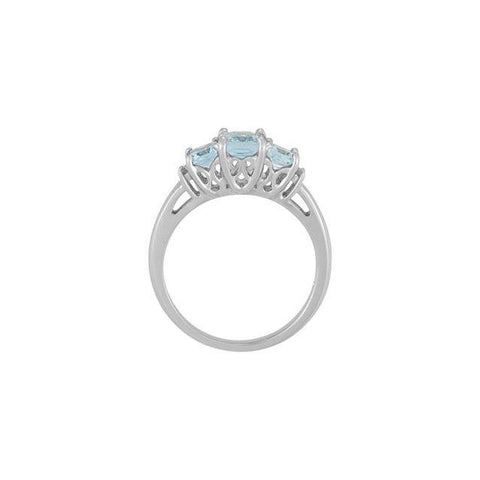 14K White Gold Aquamarine & .05 CTW Diamond Ring - Moijey Fine Jewelry and Diamonds