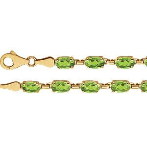 "14K Yellow Peridot 7.25"" Bracelet - Moijey Fine Jewelry and Diamonds"