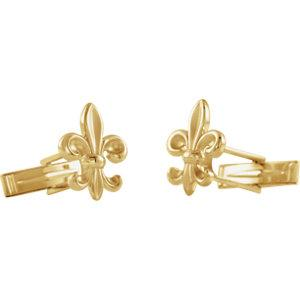 Fleur-de-Lis Cuff Links - Moijey Fine Jewelry and Diamonds