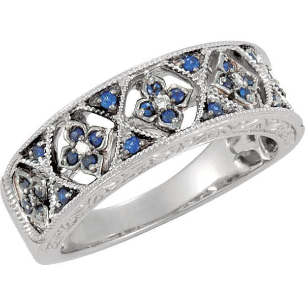 Blue Sapphire and Diamond Accented Ring - Moijey Fine Jewelry and Diamonds