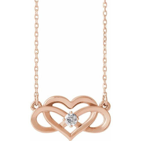 Diamond Infinity-Inspired Heart Necklace