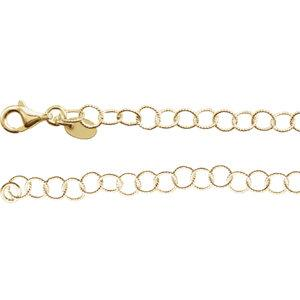 "24K Yellow Vermeil 4.6mm Knurled Rolo 24"" Chain - Moijey Fine Jewelry and Diamonds"