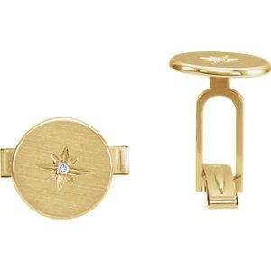 .03 CTW Diamond Starburst Men's Cuff Links - Moijey Fine Jewelry and Diamonds