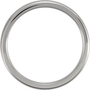 titanium band | titanium domed polished band | titanium domed polished ring