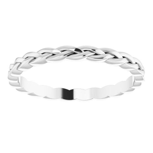 14k White Woven 2 mm  Band - Moijey Fine Jewelry and Diamonds