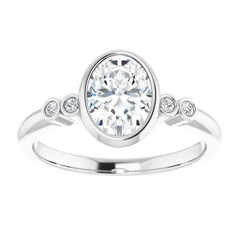 Bezel 8x6 mm Oval Ring Mounting - Moijey Fine Jewelry and Diamonds