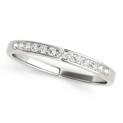 channel set wedding bands | classic wedding bands | channel set diamond wedding band