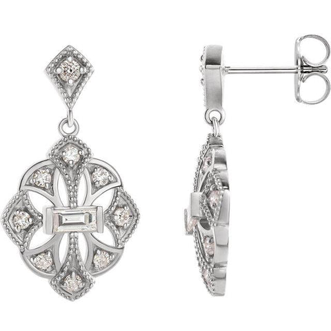 3/8 CTW Diamond Vintage-Inspired Earrings - Moijey Fine Jewelry and Diamonds