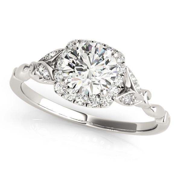 Floral Halo Engagement Ring Setting (6.5mm)